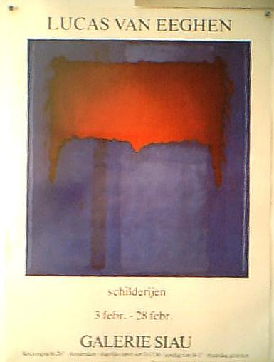affiche blue & red, Lucas van Eeghen Copyright � 2004